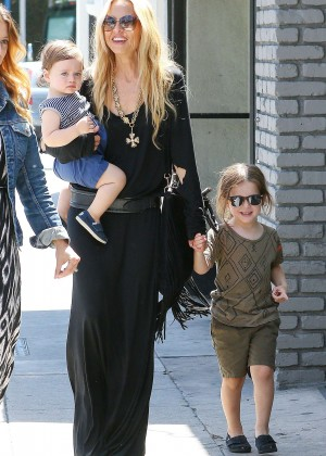 Rachel Zoe with her kids out in Los Angeles
