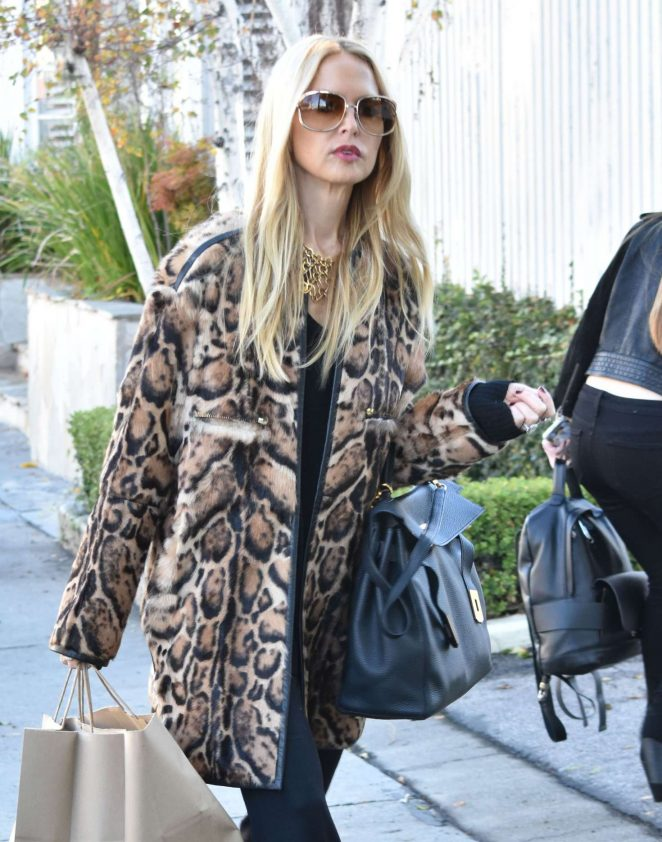 Rachel Zoe out for lunch at Au Fudge in West Hollywood