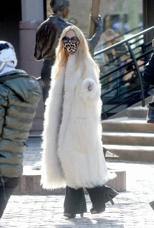 Rachel Zoe - Out with her son following a ski lift accident earlier this week in Aspen
