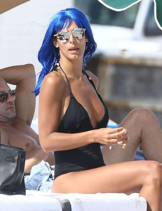 Raffaella Modugno in Swimsuit on Miami Beach