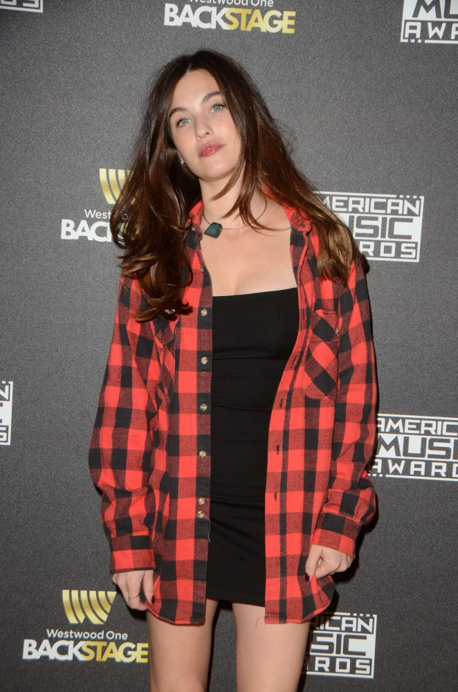 Rainey Qualley - American Music Awards Radio Row Day 2 in LA