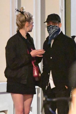 Rami Malek and Lucy Boynton - Out for dinner at Vietnamese restaurant Cay Tre in Soho
