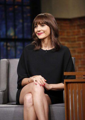 Rashida Jones on 'Late Night with Seth Meyers' in New York City