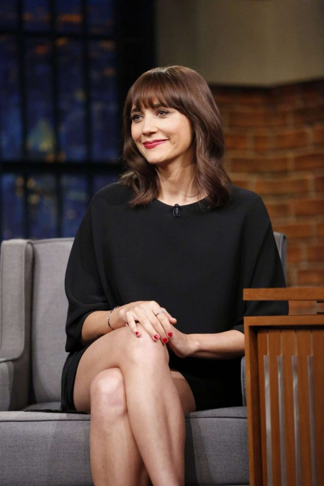 Rashida Jones on 'Late Night with Seth Meyers' in New York City