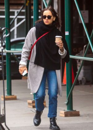 Rashida Jones Out in the East Village