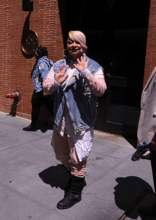 Raven Symone at ABC Studios in New York City -06