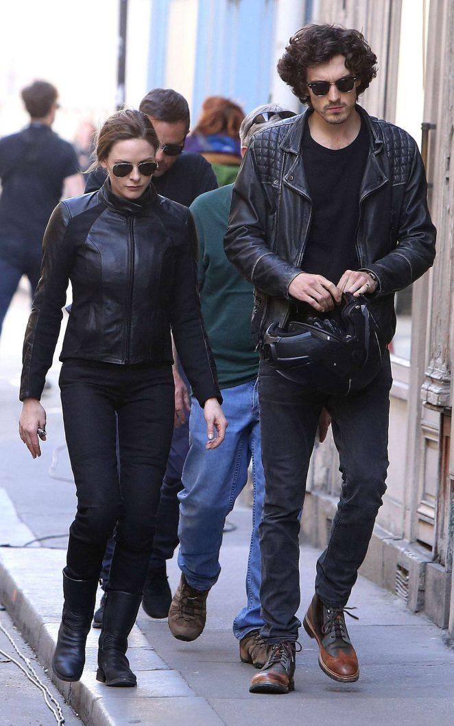 72ccf0bc7a0 Rebecca Ferguson and her boyfriend Leave 'Mission Impossible 6' set ...