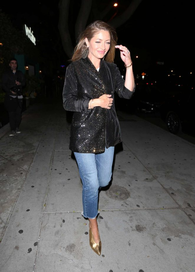 Rebecca Gayheart Arriving at the Peppermint club in West Hollywood