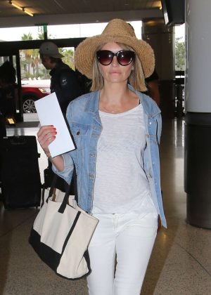 Rebecca Gayheart at LAX Airport in Los Angeles