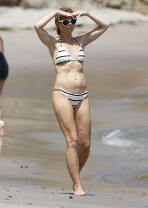 Rebecca Gayheart in Bikini in Malibu