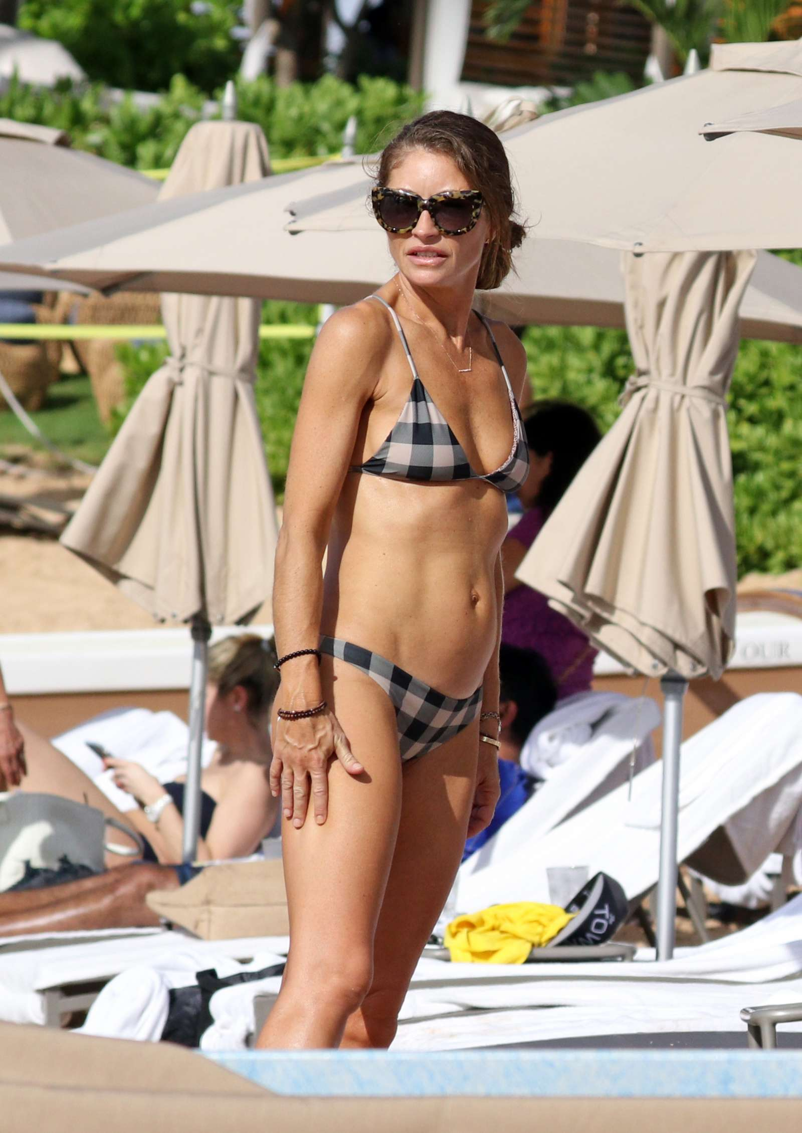 Rebecca Gayheart in Bikini on the beach in Hawaii