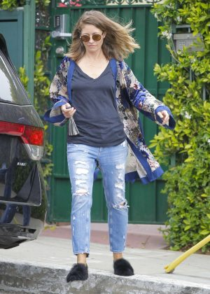 Rebecca Gayheart in Ripped Jeans out in Beverly Hills