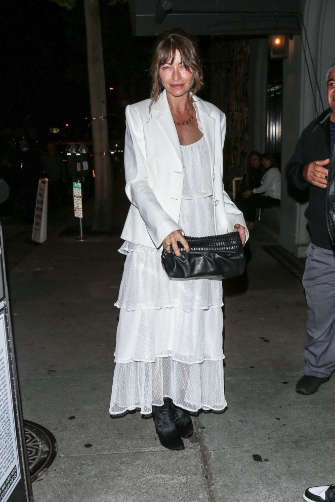 Rebecca Gayheart - Leaving Craig's in Hollywood
