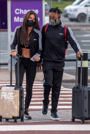 Rebecca Gormley and Biggs Chris - Arrived at Newcastle Airport