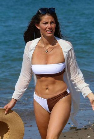 Rebecca Gormley and Biggs Chris - In a bikini on the beach in Marbella