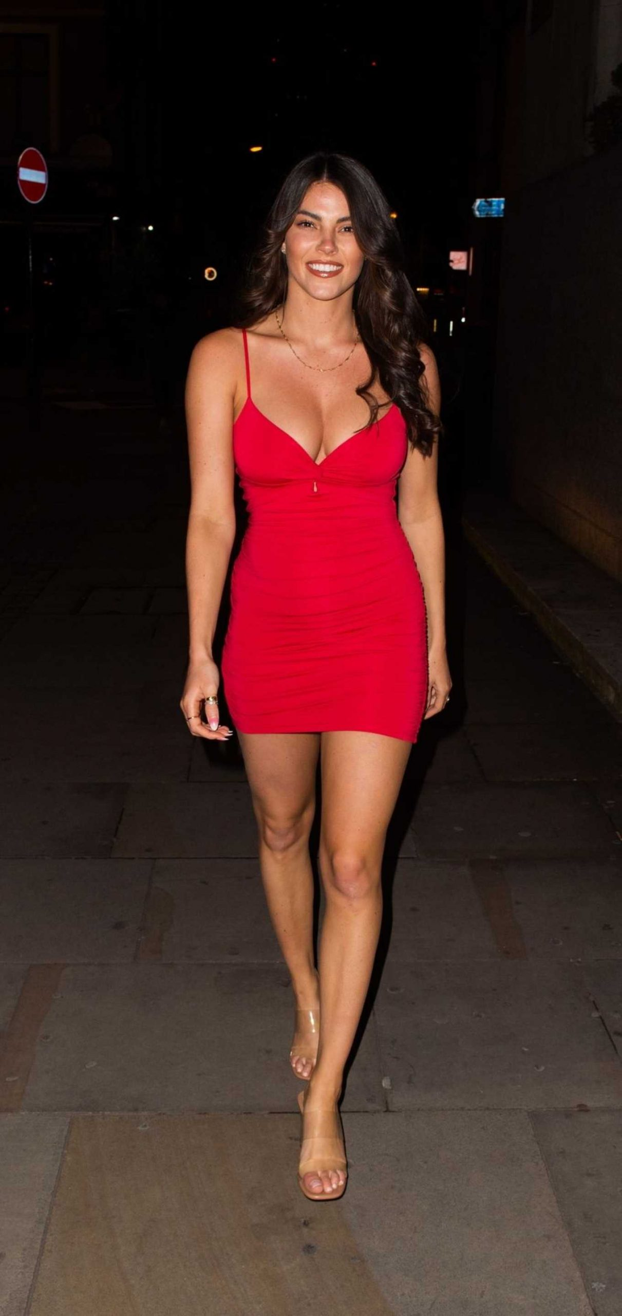 Courthouse Hotel Shoreditch: Rebecca Gormley 2020 : Rebecca Gormley In Red Mini Dress-02