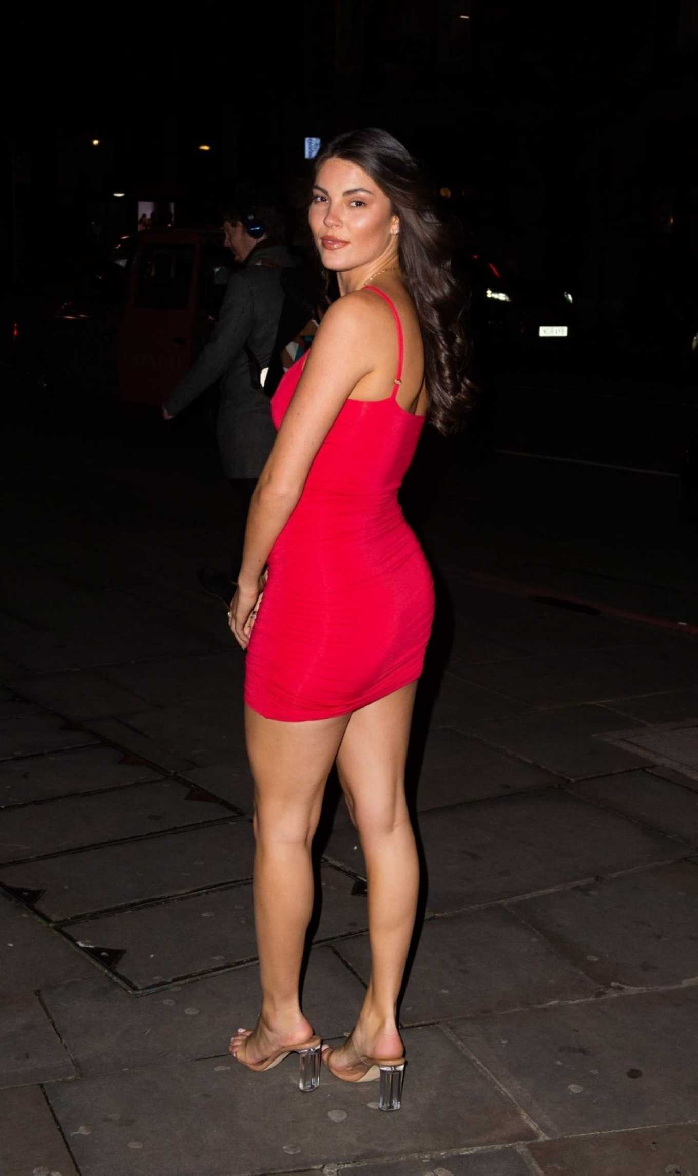 Courthouse Hotel Shoreditch: Rebecca Gormley 2020 : Rebecca Gormley In Red Mini Dress-10