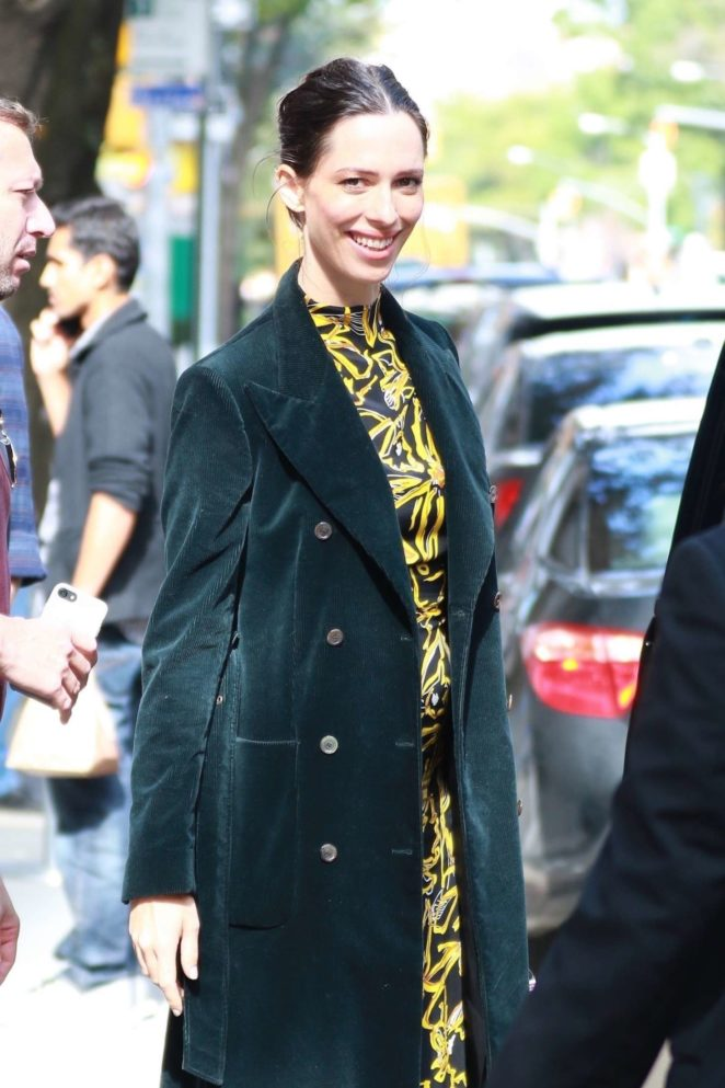 Rebecca Hall out in New York City