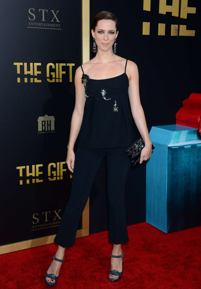Rebecca Hall - 'The Gift' Premiere in Los Angeles