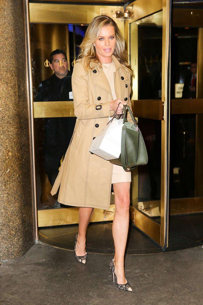 Rebecca Romijn - Leaving the NBC Studios in New York