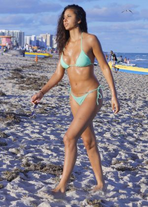 Rebecca Scott in Bikini on Miami Beach