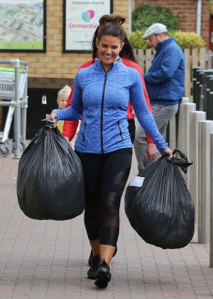 Rebekah Vardy at Barnardo's Charity Shop in London
