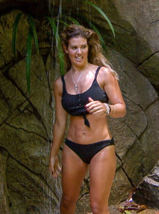 Rebekah Vardy in Bikini on TV Show in Australia