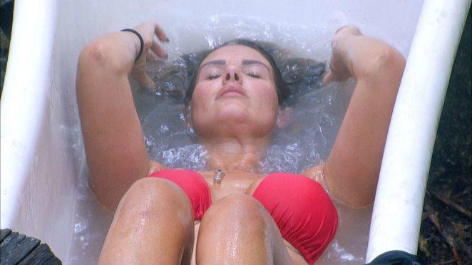 Rebekah Vardy in Red Bikini on TV Show -09