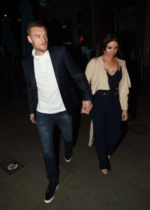 Rebekah Vardy - Jamie Lomas Birthday at Gino restaurant in London