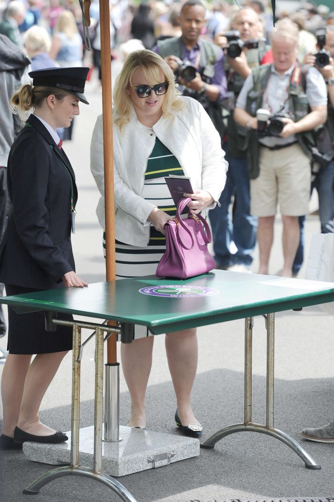 Rebel Wilson - Arriving at 2016 Wimbledon Championships in London