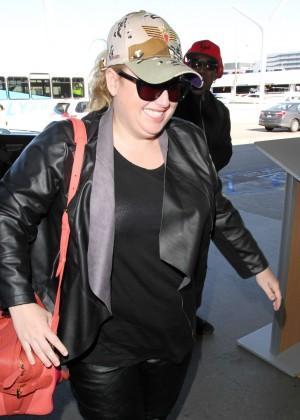 Rebel Wilson at LAX Airport in LA