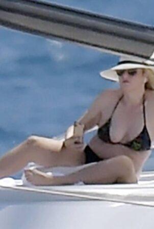 Rebel Wilson - In a yacht in a bikini