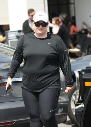 Rebel Wilson in Tights at Joan's on Third in Los Angeles