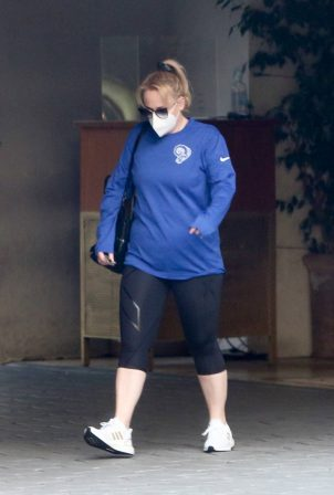 Rebel Wilson  - Leaving the Sunset Tower Hotel in West Hollywood