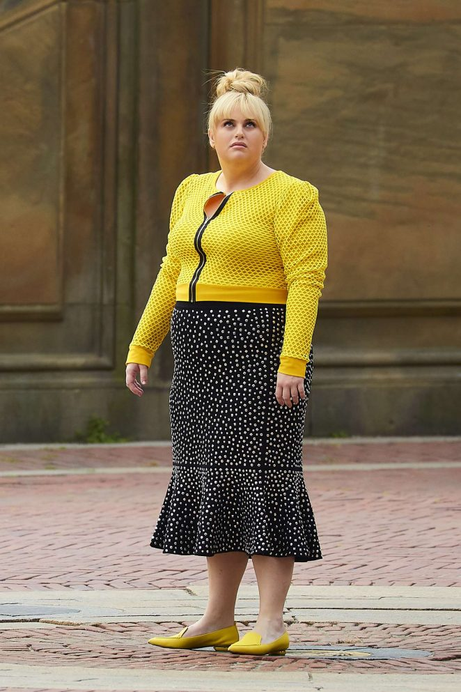 Rebel Wilson on the set of her new romantic comedy in New York City