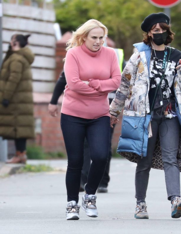 Rebel Wilson - on the set of 'The Almond And The Sea Horse' in Wrexham