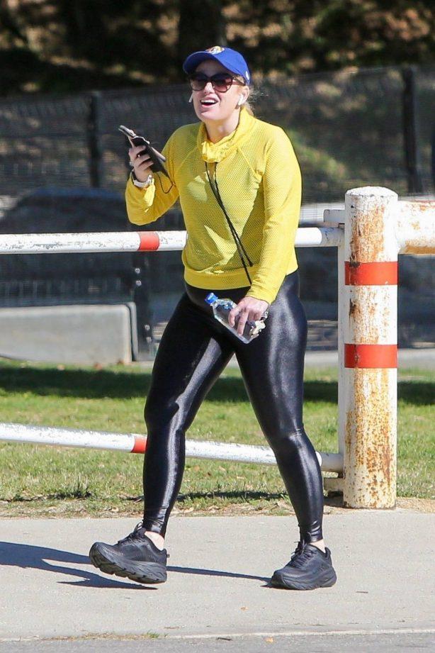 Rebel Wilson - Seen during a healthy walk in Los Feliz