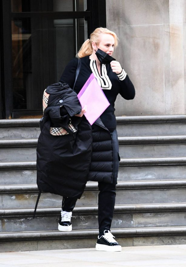 Rebel Wilson - Seen first time after being injured during a bike ride in London
