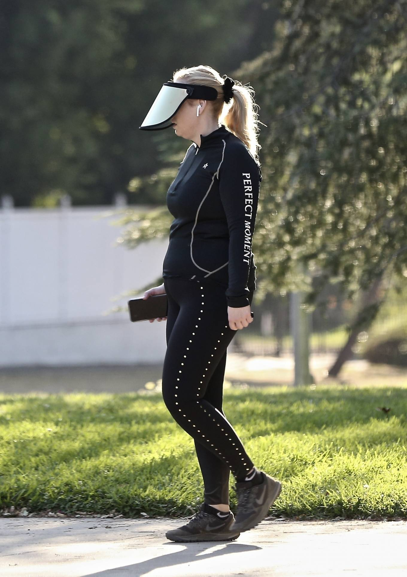 Rebel Wilson - Wearing a mirrored visor while out for a hike in Los Angeles