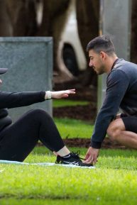 Rebel Wilson - Workout in a Sydney park