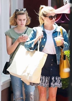 Reese Witherspoon and Ava Phillippe out in Brentwood
