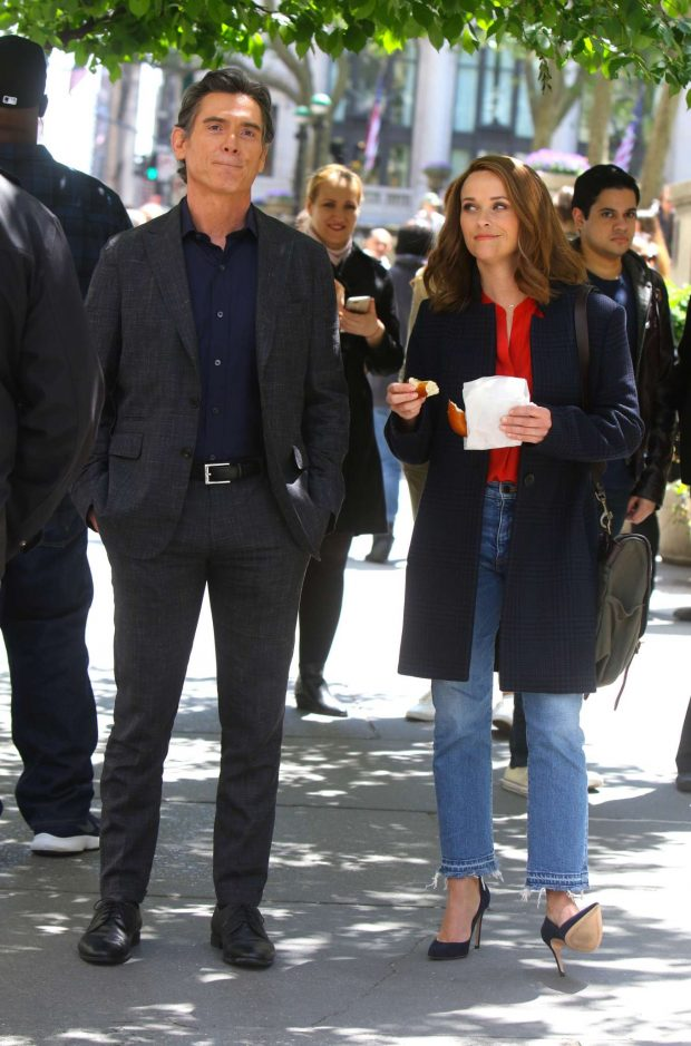 Reese Witherspoon and Billy Crudup - Filming 'Big Little Lies' in NYC