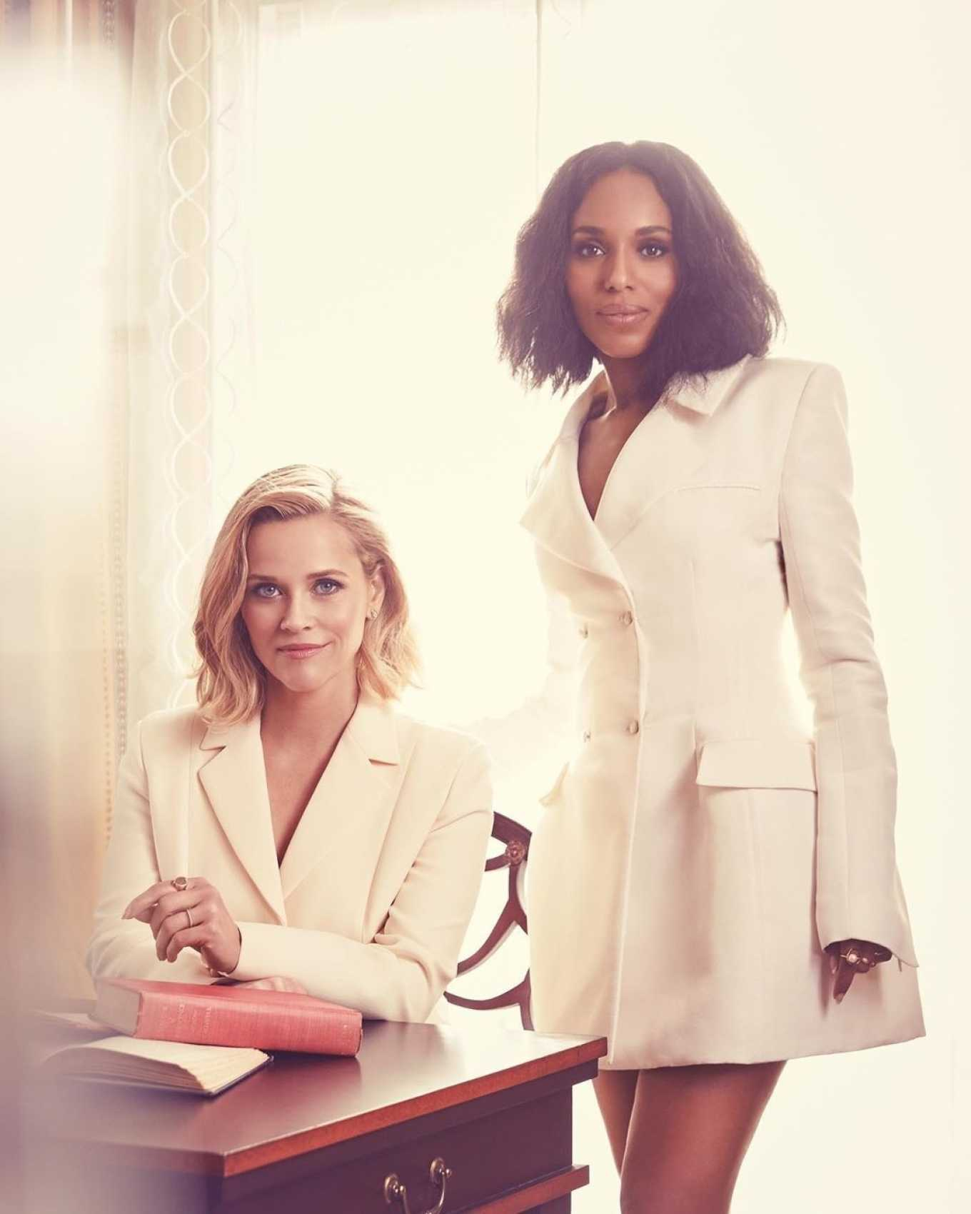 Reese Witherspoon 2020 : Reese Witherspoon and Kerry Washington – Emmy Magazine 2020-01