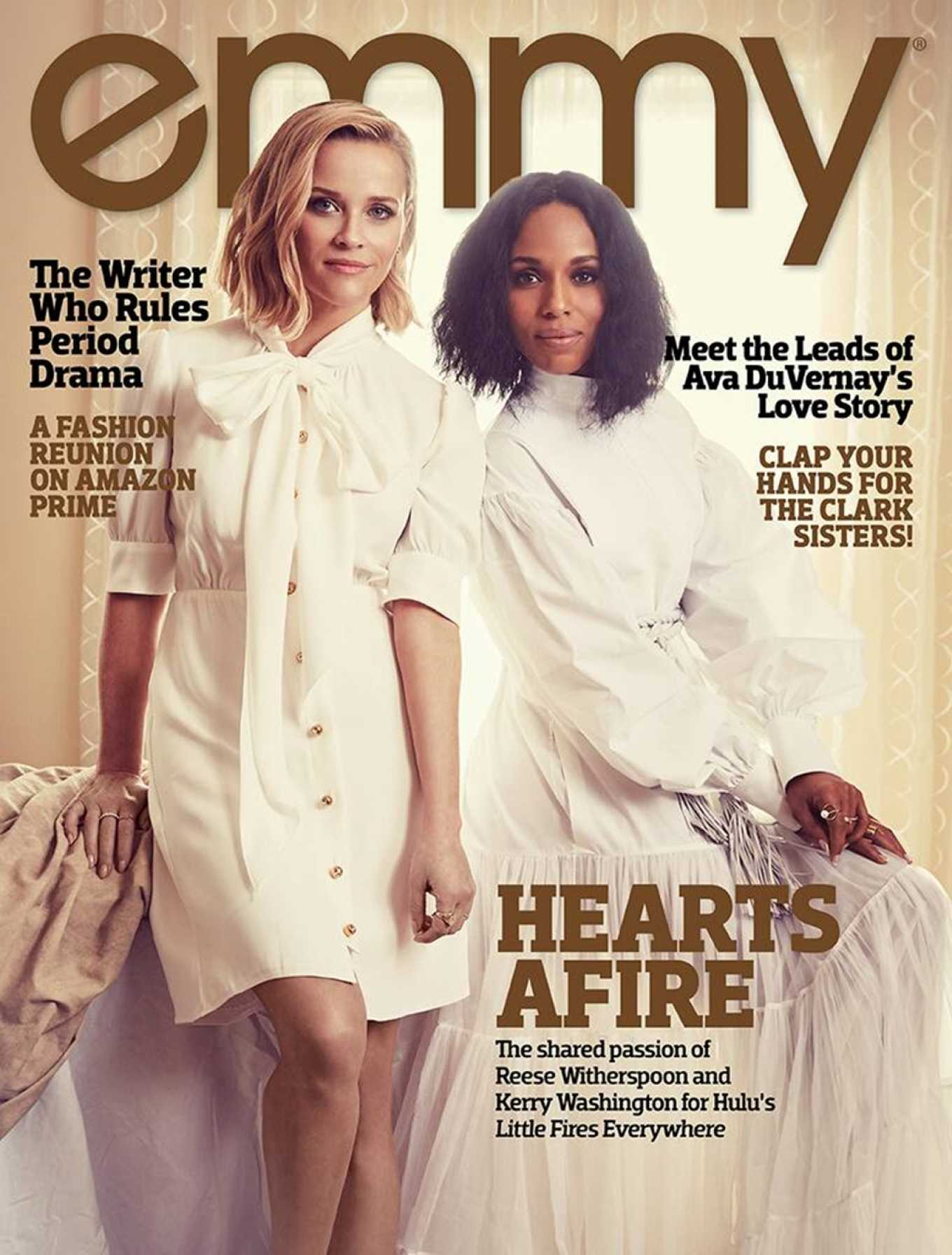 Reese Witherspoon 2020 : Reese Witherspoon and Kerry Washington – Emmy Magazine 2020-02