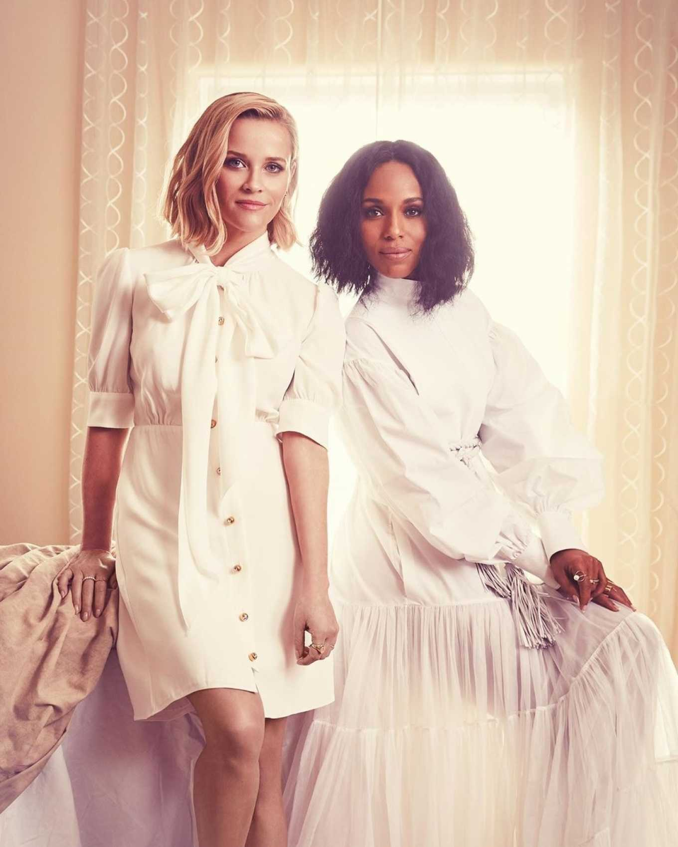 Reese Witherspoon 2020 : Reese Witherspoon and Kerry Washington – Emmy Magazine 2020-03