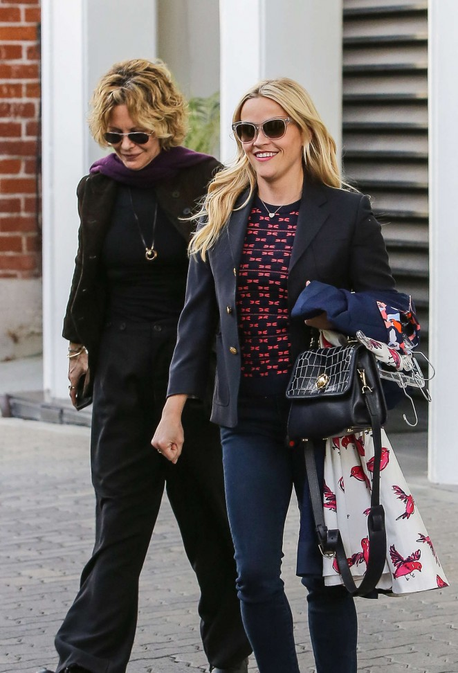 Reese Witherspoon and Meg Ryan - Leaving her office in Beverly Hills