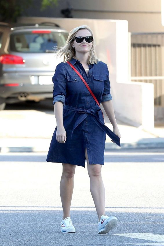 Reese Witherspoon - arrives at her office in Brentwood