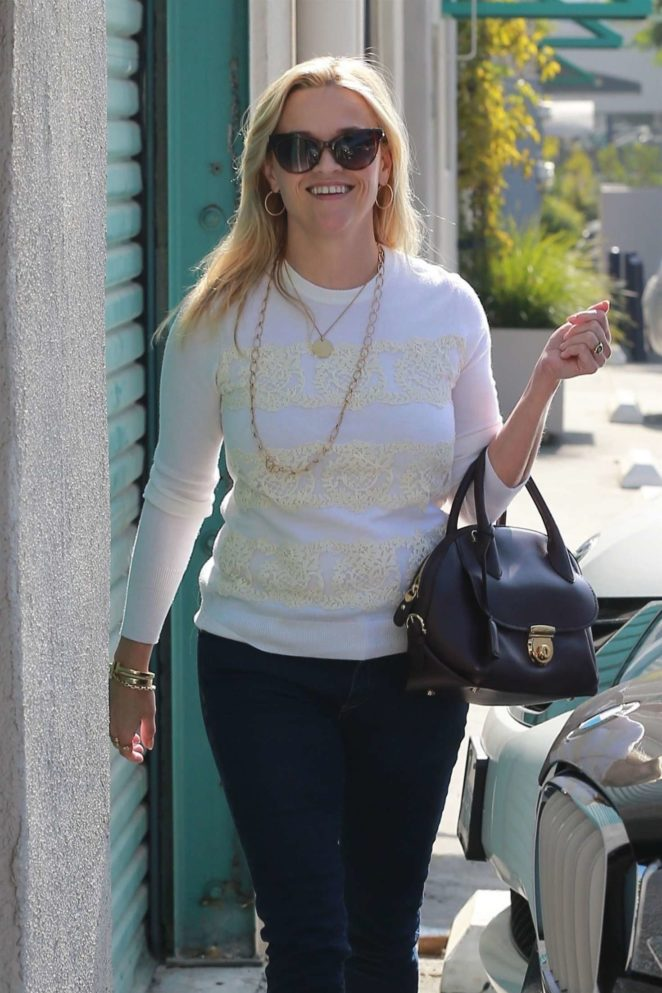 Reese Witherspoon at a studio in Santa Monica