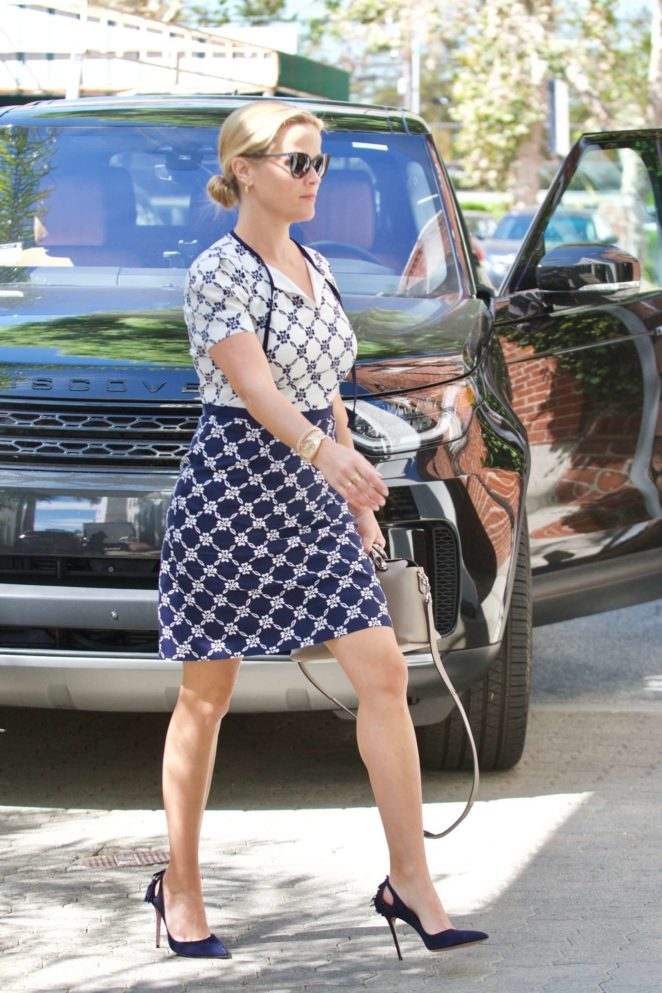 Reese Witherspoon heads to her office in Beverly Hills