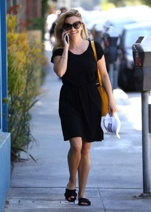 Reese Witherspoon in Black Dress out in LA